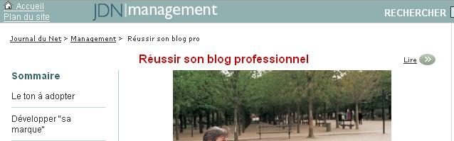 Réussir son Blog Professionnel par le Journal du Net