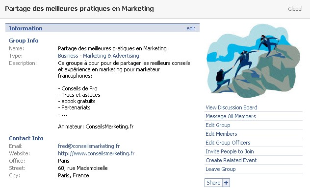 groupe conseilsMarketing.fr