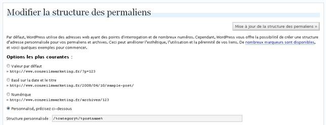 permaliens google wordpress
