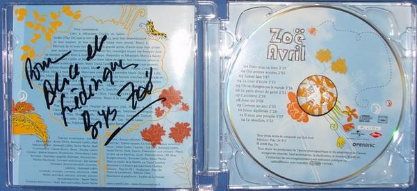 CD dedicacé Zoe Avril