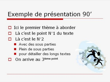 Modèle PPT has been