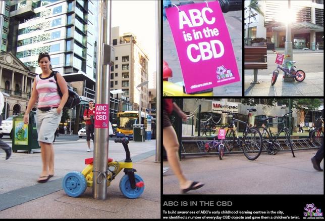 street marketing avec mise en scène produit