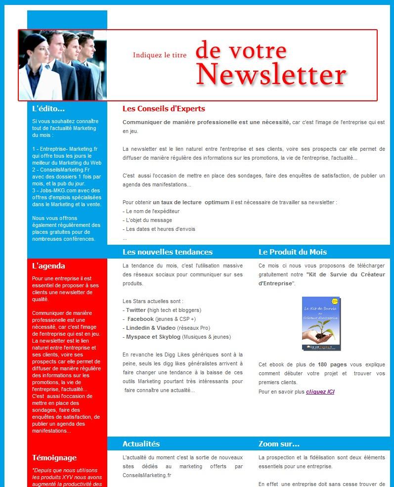 Populaire 18 modèles de newsletters et d'emailings gratuits - RR57
