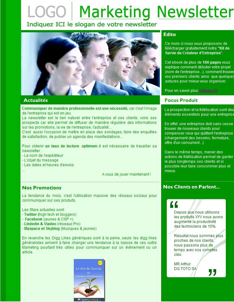 Extrem 18 modèles de newsletters et d'emailings gratuits - KA92
