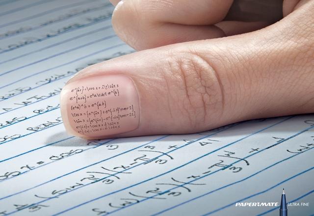 pub pour un stylo