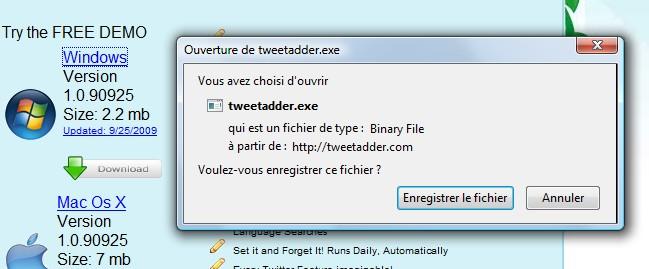 tweet adder install