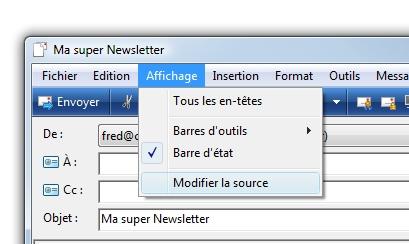 envoi newsletter avec windows mail