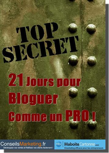 ebook 21 jours pour bloguer comme un PRO