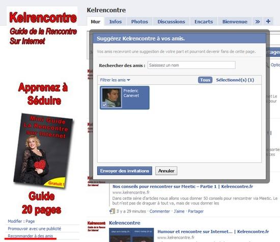 inviter contact facebook