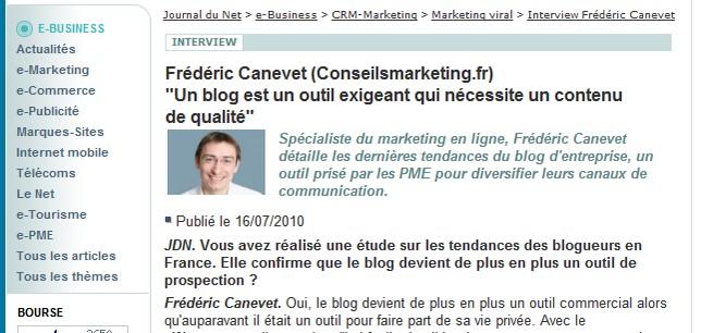 interview marketing