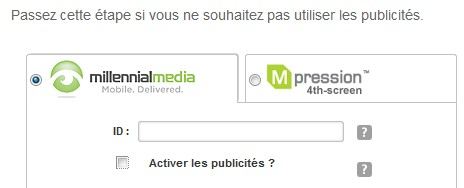 application publicitaire