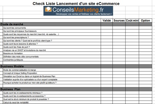 r ussir son site ecommerce le business plan la checklist. Black Bedroom Furniture Sets. Home Design Ideas