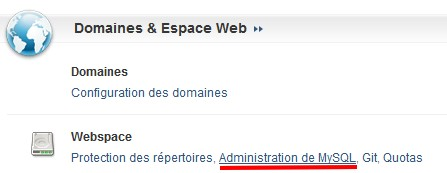 administration MY SQL