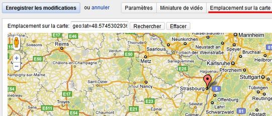 geolocalisation youtube