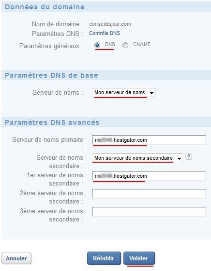 choix serveurs DNS