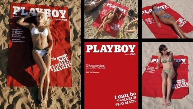 serviette playboy
